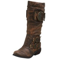 """Two Lips """"Warrior"""" mid calf leather boots"""