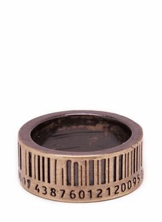 bar code ring...strangely attractive...in silver would be pretty
