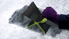 I am going to need one of these. A double headed ice scraper. Smart!