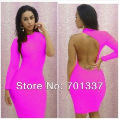 Pretty women One sleeve dresses Fashion clubbing wear Sexy fancy costume Dresses B4002 - Ali Express US Ali Express US