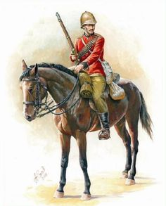HAT 8209 - Zulu War British Mounted Infantry - scale 18 figures and 12 horses British Army Uniform, British Uniforms, British Soldier, Military Art, Military History, Royal Horse Artillery, British Armed Forces, Age Of Empires, War Image