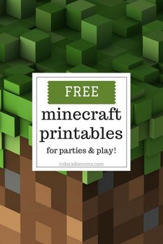 I've scoured the internet and found a few sites who offer some great free minecraft printables. Everything from party decorations and invites to magnets to bring the play and building