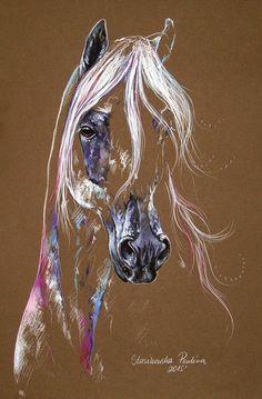 Horse Framed Print featuring the painting Arabian Horse by Paulina Stasikowska
