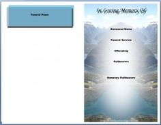 Memorial bulletins for funerals memorial service program for Free funeral program template microsoft publisher