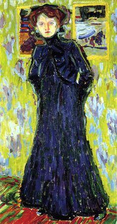 Ernst Ludwig Kirchner | Ernst Ludwig Kirchner - Doris stehend