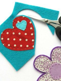 How to make felt and fabric brooches: Apply similar technique to felt pieces of Advent calendar to make them sturdier.