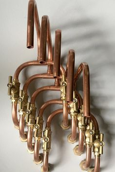Loop Wall Mount Industrial Handmade Copper Faucet Pipe