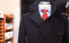 Lander Urquijo Dark Blue Trench