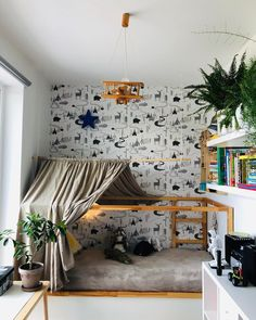 I scoured Instagram and found these awesome KURA bed hacks. Get inspired by the different styles and functions you can add to the bed. Big Boy Bedrooms, Big Girl Rooms, Boy Room, Kids Bedroom, Cama Ikea Kura, Kura Bed Hack, Ikea Kura Hack, Hacks Ikea, Ikea Kids Bed
