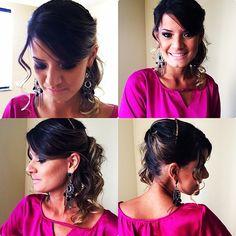 Make e cabelo para casamento <3