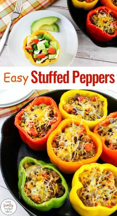 Taco Stuffed Peppers You Want to Eat Every Day, Your family will eat this Taco Stuffed Peppers Recipe up! and Love it Ground Beef Recipes, Mexican Stuffed Peppers, These stuffed peppers are full of a delicious filling made with seasoned ground beef, - p Low Carb Meal, Mexican Stuffed Peppers, Stuffed Pepper Recipes, Stuffed Bell Peppers Turkey, Healthy Stuffed Bell Peppers, Beef And Pepper Recipe, Recipe For Stuffed Peppers With Rice, Stuffed Peppers Pioneer Woman, Salads