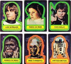 Collectibles: Star Wars: Vintage Star Wars sticker cards