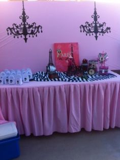 Paris theme candy table