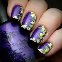 These nail designs will be your indispensable. Stamp this summer with the latest trend nail designs. these great nail designs will perfect you. Nail Designs Spring, Cool Nail Designs, Pedicure Designs, Purple Nail Art, Latest Nail Art, Manicure E Pedicure, Purple Pedicure, French Tip Nails, Super Nails