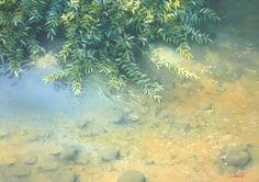 "Yokohama Exhibition 2015 - Abe Toshiyuki ""The waterside"" watercolor on waterford 30 x 42 cm, 2015"