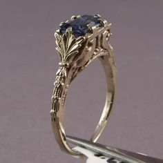 vintage art deco engagement ring A superb Art Deco sapphire and diamond platinum panel ring. This beautiful example of Art Deco jewelr. Ruby Ring Vintage, Vintage Art Deco Rings, Antique Rings, Antique Jewelry, Vintage Jewelry, Silver Jewelry, Silver Pendants, Turquoise Jewelry, Silver Necklaces