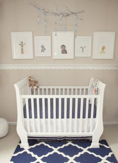 1 Baby Animal Nursery White Neutral Animals Inspiration
