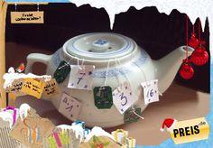 Wer ein Händchen fürs Basteln hat und gerne etwas Zeit in einen ausgefallenen Advents-Kalender investieren möchte, dem Könnte diese Bastelidee gefallen. Der Adventskalender in Form einer Teekanne, in dessen Inneren 24 Teebeutel gehängt werden, ist nicht nur was für Freunde der Teekultur. Den Inhalt der Teebeutel kann man ganz individuell mit Botschaften oder kleinen Geschenken...
