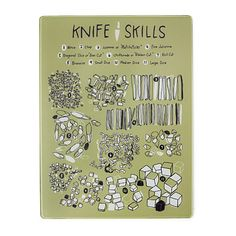 Look what I found at UncommonGoods: knife skills cutting board... for $32 #uncommongoods