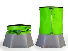 HUGO, the new multi award winning  British designed collapsible water container/butt. now £85 #recycling #rainwater #irrigation