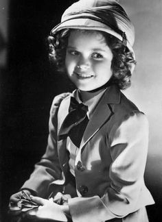 Shirley Temple in a portrait for Wee Willie Winkie, 1937.