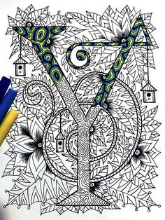 "Letter Y Zentangle - Inspired by the font ""Penelope"""