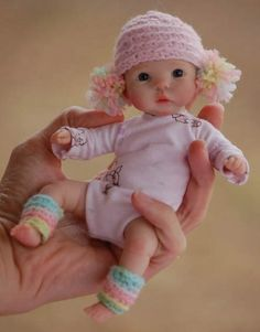 """7"""" OOAK polymer clay baby"""