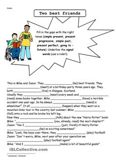 Resultado de imagen para texts with mixed tenses The Tenses, Verb Tenses, Kids English, Learn English, Tenses Exercises, English Exercises, Present Perfect, English Resources, Grammar Worksheets