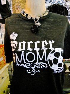 Sassy Soccer Mom Tee-soccer, soccer mom, the tiara fits, my tiara fits, tiara, funky, vintage, carpool, carpool mom, cheer mom, shinguard, tee, t-shirt, tee shirt, shirt, t, burnout