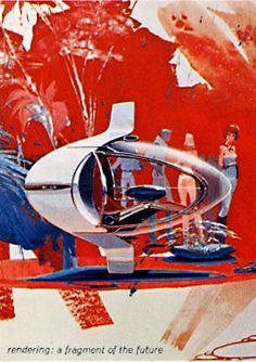 Illustration by Syd Mead, from The Ford Book of Styling : a History and Interpretation of Automotive Design / Ford Motor Company, 1963