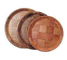 "Case Pack: 864  Admiral Craft Serving Tray round - WRT-13 Serving Tray, round, 13"" diameter, keyaki wood"