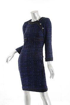 Chanel Sheath Ribbon Dress