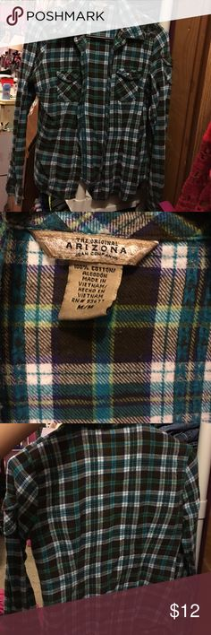 Plaid shirt Great shape. Size medium but fits like a small. Arizona Jean Company Tops Button Down Shirts