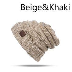 0c67bf32d1bf1 DARKAREA Warm Winter Hat For Women Fashion Women Skullies Beanies Knitted  Women Hat Men Winter Hat