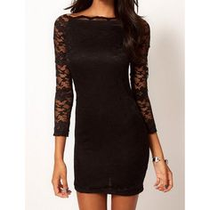 Black Lace Dress for all those weddings, lol, black to mourn the death of another single person