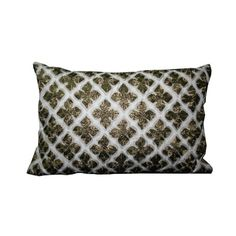Imperial Inlay White Cushion - shop now at www.hautegali.com