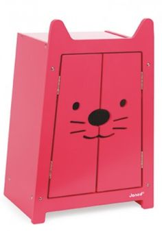 Hot Pink wardrobe with adorable kitten wooden hangers includedPurrfect for pretend playIncludes a wooden cat shaped wardrobe with metal hinges and 3 hangarsRecommended for children 2 years of age and older Little Baby Girl, Baby Kind, Little Babies, Armoire Rose, Pink Wardrobe, Spoiled Kids, Wooden Cat, Shops, Pink Doll