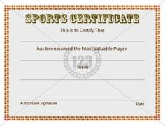 Sports Certificate Archives - Free & Premium 123 Certificate Templates | Free & Premium 123 Certificate Templates