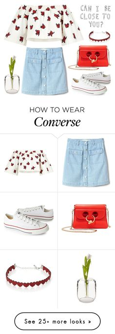 """""""Can I be close to you? """" by helloume on Polyvore featuring Gap, House of Holland, Converse, J.W. Anderson and Simons"""