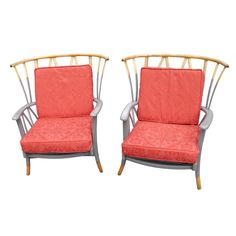 Vintage 1950s Beech And Ash Ercol-Style Armchairs £265