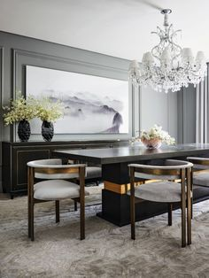Boca do Lobo presents you a carefully curated selection of the best Dining Room Designs Luxury Dining Tables, Luxury Dining Room, Dinning Table Design, Muebles Living, Dinner Room, Elegant Dining, Luxury Furniture, Decoration, Room Decor
