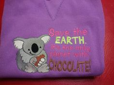 Koala with chocolate, can it get better?