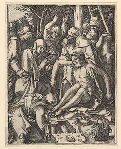 Marcantonio Raimondi; The Deposition (Italian engraving after Durer, c. 1500-34); Metropolitan Museum of Art, New York