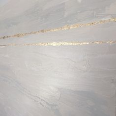 Gold white and gray abstract painting with gold leaf on canvas