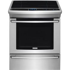 Frigidaire 30-in Smooth Surface 4-Element 4.6-cu ft Slide-in Convection Electric Range (Stainless Steel)