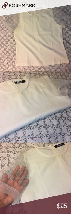 Beautiful white sheet sleeve top Great top for work, night out or casual day. Missguided Tops Blouses