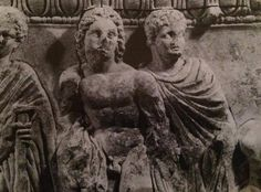 Alexander & Hephaestion - Female protome in terracotta from Tomb 94 in Amphipolis, Greece, Detail, Greek civilization, 4th Century BCE