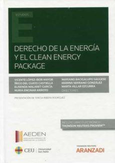Derecho de la energía y clean energy package Thomson Reuters Aranzadi, 2021 Law