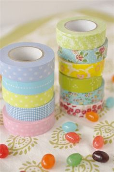 Washi tape  - to make flags to decorate cupcakes