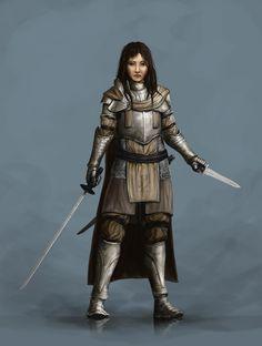 Female Warrior Design by ClaudeCrow.deviantart.com on @DeviantArt